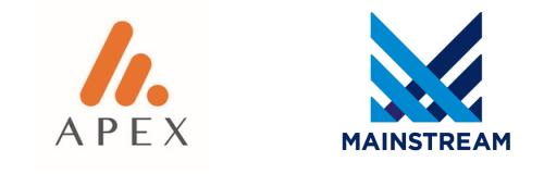 Apex Mainstream logos