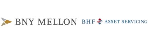BNY Mellon and BHF Asset Servicing Logos