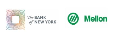 Bank of New York and Mellon Logos